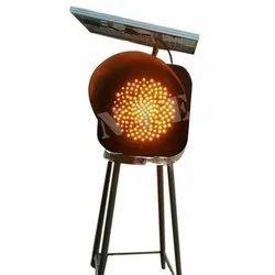 LED Amber Solar Traffic Blinker