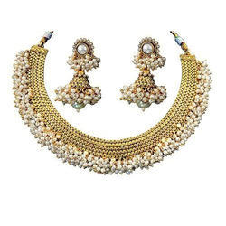 Festive Wear HRB Exports Gold Necklace Set