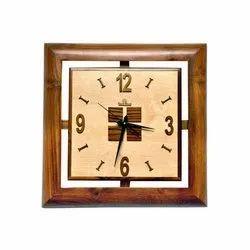 Analogue Wood Modern Wooden Wall Clock