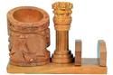 Wooden Ashoka Stambh with Pen/Pencil Holder