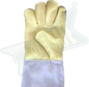 Kevlar and Para Aramid Palm Hand Gloves with Pure Chrome