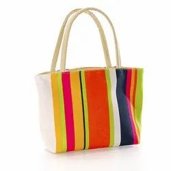 Striped Printed Cotton Bag