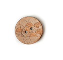 Tanned Leather Button With Laser Engraving