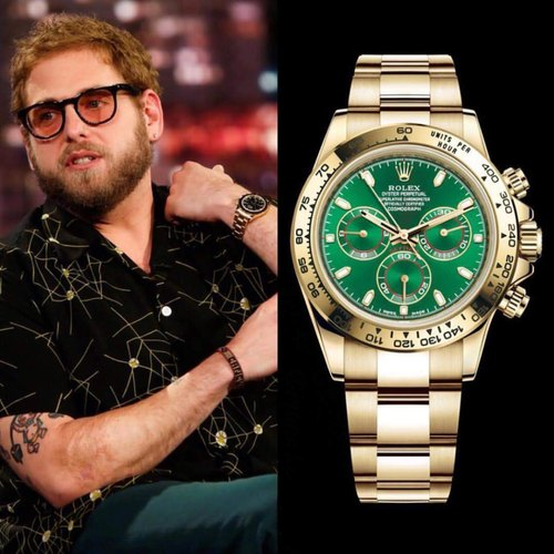 Cosmograph Daytona Gold Green Dial Swiss Automatic Watch At Rs 6999