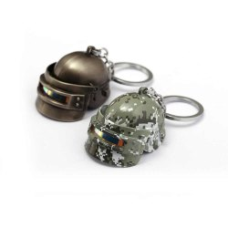 Pubg Battle Grounds Camouflage Helmet Key Chains