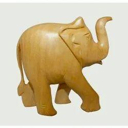 Plain Wooden Elephant UP Trunk