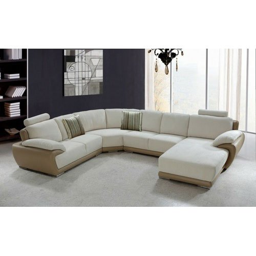 Cream Designer U Shape Sofa Set For, Best Sofa Set Under 50000