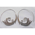 Handmade Exclusive Silver Plated Brass Earring