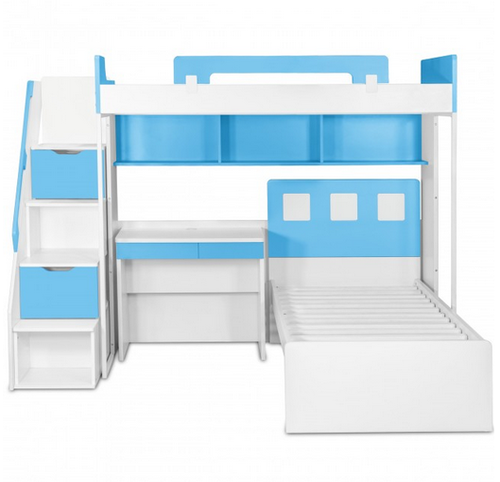 Multi Color Milano Bunk Bed With Study Table Chair Rs 109500
