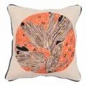 Embroidery Work Accent Cotton Square Cushion Cover