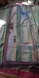 Plain Multicolor Vintage Kantha Quilt