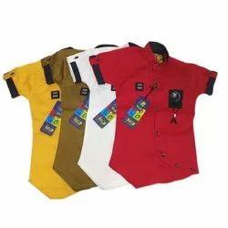 Kids Party Wear Cotton Shirt