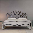 Black Designer Wrought Iron Single Bed