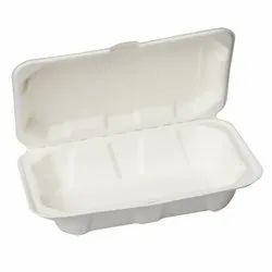 Bagasse 1000Ml Clamshell Box