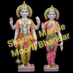 White Marble Laxmi Narayan Statue