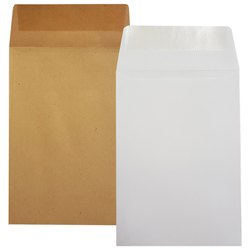 Brown,White Plain Paper Envelope, Rectangular, Size: 12 X 8 Inch
