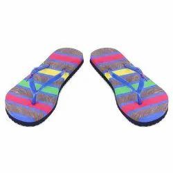 Women's Multi Colour Casual Wear Flip-Flop Rubber Slipper