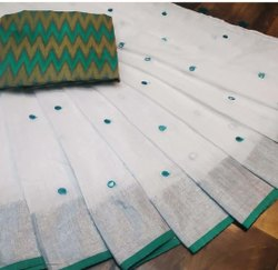 Fancy Linen Printed Indian Wear Saree