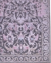 Wool Bamboo Silk Oxidized Grey and Pink Color Rug