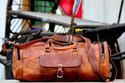 Leather Travel Bag,  Luggage, Travel Bag, Weekender, Overnight Bags, Brown, Leather Bags
