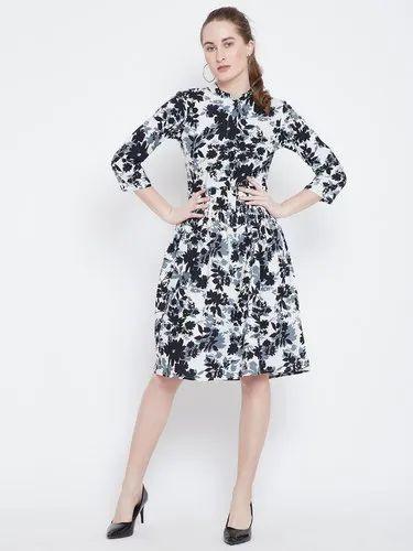 Ladies Rayon Midi Dress