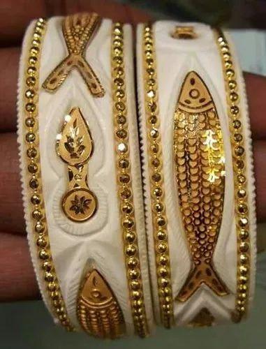 Gold Plated Designer Shakha Bangles At Rs 2800 Pair Gold Plated Bangles Id 20500542088