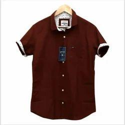 Arrow Men Cotton Brown Shirts