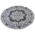 Blue Round Mandala Tapestry Beach Throw Yoga Mat