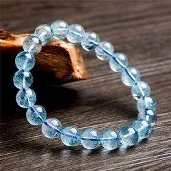 Blue Topaz Gemstone Bracelet For Men Bead