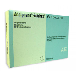 Adelphane Esidrex, For High blood pressure., Packaging Size: 1x10