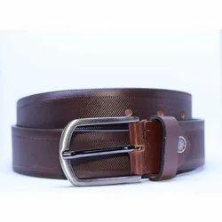 Dessert Textured Brown Leather Belt