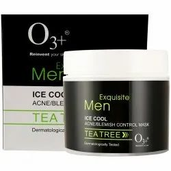 O3  Men Tea Tree Ice Cool Acne-blemish Control Mask, 50g