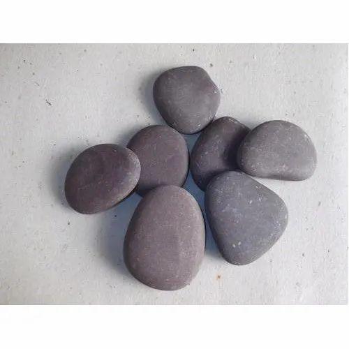 Chocolate Natural Flat River Pebbles