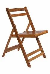 Brown Wooden Folding Chair