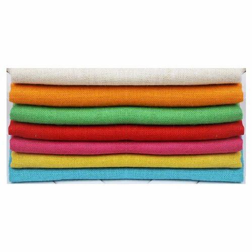 Plain Coloured Laminated Jute Fabric