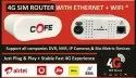 Cream Wireless Or Wi-fi Cofe 4g Router, For Sim To Wifi And Lan