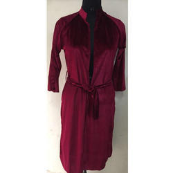 Ladies Velvet Robe