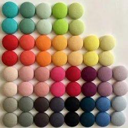 Multicolor Cotton Fabric Button, for Garments