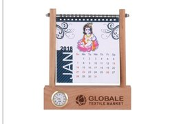 Natural Wood English.hindi Wooden Calendar