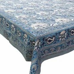 Hand Block Printed Tablecloth Square