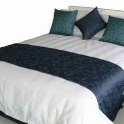 White Silk Bed Runner