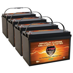 V Max Acid Lead Solar Battery, Capacity: 125 Ah