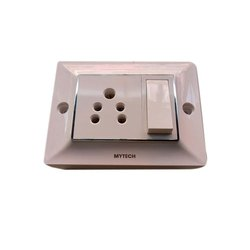 White Electric Modular Switch for Home