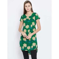 Ladies Crepe Printed Tunic Kurti