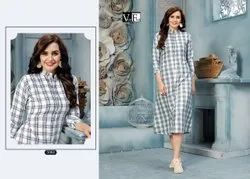 Cotton Check Kurti