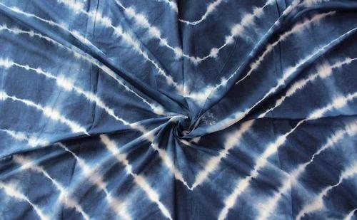 Cotton Hand Painted Tie Dye Shibori Print Fabric Use Upholstery