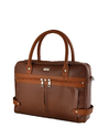 Men'S Official Look Laptop Bag In Dark Tan From Yelloe