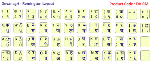 Keyboard Stickers - PVC Based Black Inscript Bilingual