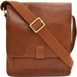 Mens Brown Side Bag