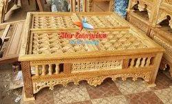 Star Enterprises Brown Wooden Center Table, For Home